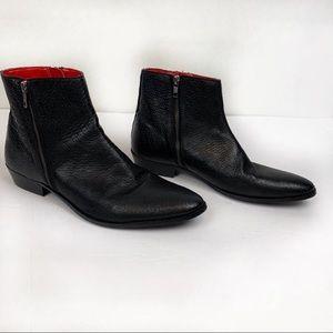 Walk London Ziggy Star Zip Boot Size 8